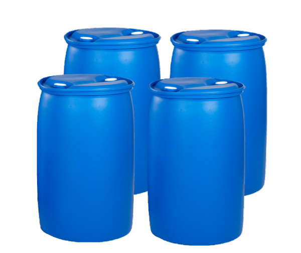 120 Litre Tighthead Plastic Drum - Pack of 4 Drums